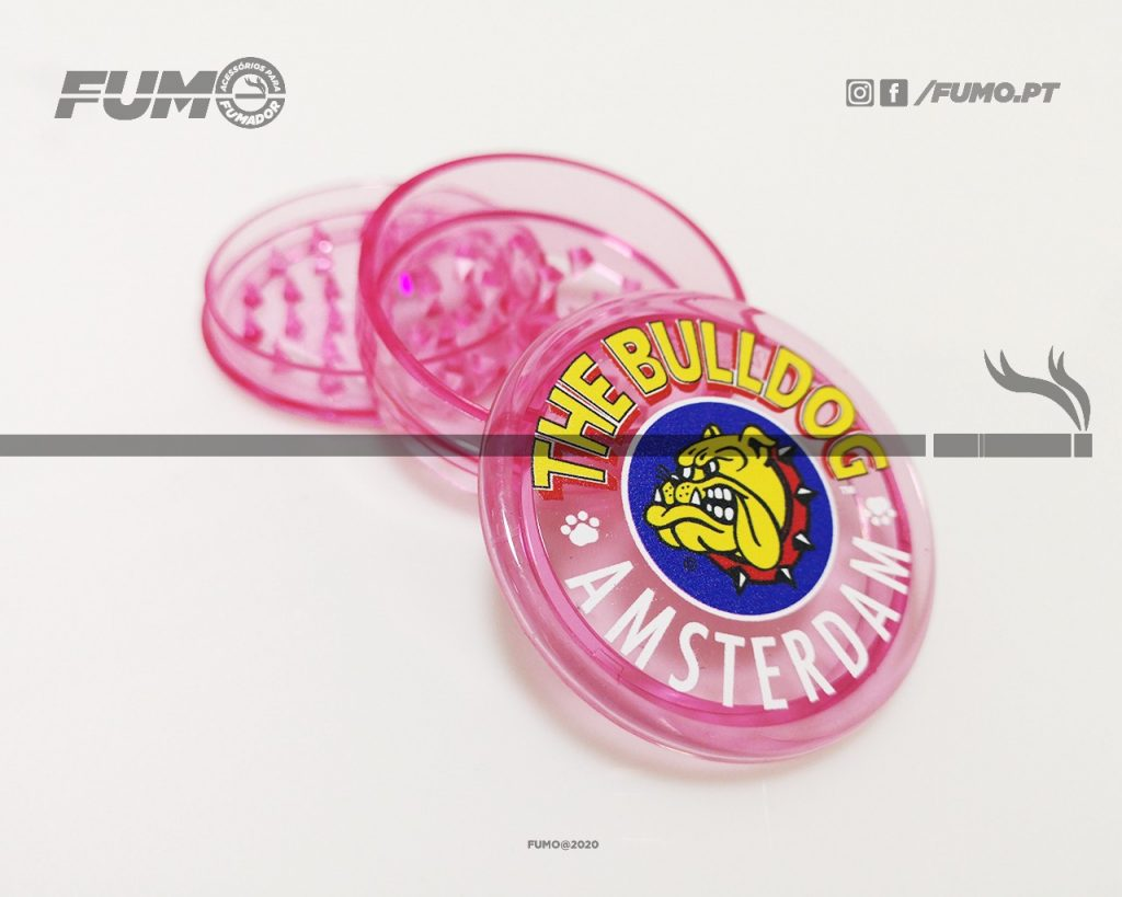 The Bulldog Amsterdam Grinder Plástico Trans Pink