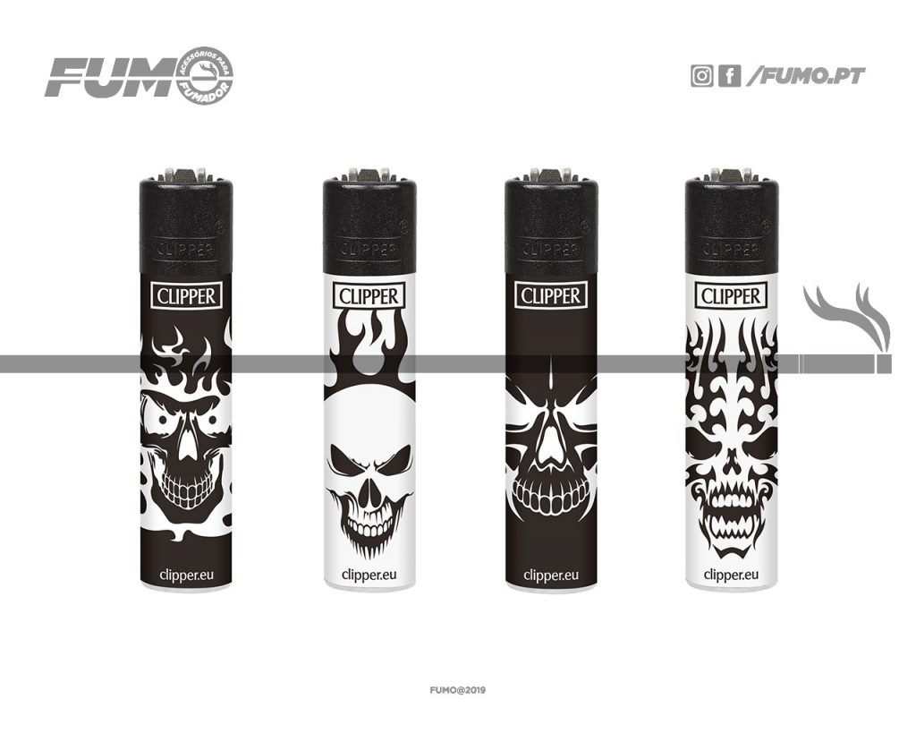 Clipper Micro Decorado Skulls B&W + BW